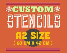 Plantilla Personalizada A2 fuente de personalizado sólo una foto, línea de texto o logo