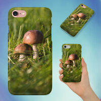 GRASS GREEN MUSHROOMS FUNGUS HARD BACK CASE FOR APPLE IPHONE PHONE