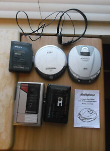 Lot of 5 Personal Walkman Cassettes and Compact Disc Players