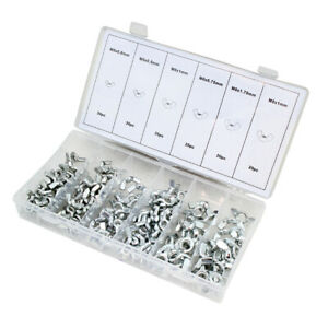 150-Pieces Wing Nut Assortment Set Zinc-Plated Steel Wingnuts w/ Storage Case