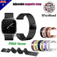 For Fitbit Versa 2 Replacement Magnetic Milanese Stainless Steel Wrist Band