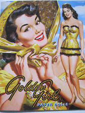 Gorgeous GOLDEN GIRL Vintage Reproduction Paper Doll Book--1950s Glamour!
