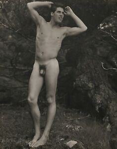 1990 Vintage BRUCE WEBER Outdoor Male Nude Model ROB Washington Photo Art 11X14