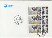 Faroe Islands 1994 Dogs, Sheepdogs, Complete Booklet Pane First Day cover