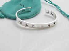 Tiffany & Co Silver Atlas Stencil Cuff Bangle Bracelet!