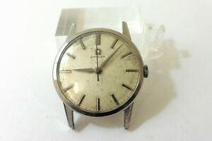 1961 GENTS STAINLESS STEEL OMEGA 285 IN GOOD CONDITION FOR EASY REPAIR.