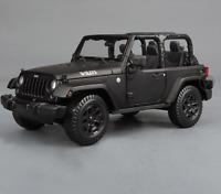 Maisto 1:18 Jeep Wrangler Willys Matte Black Diecast Model Car NEW IN BOX