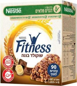 Fitness Cereals Bar with Chocolate & Banana Kosher Dairy Product 141g - 6 units