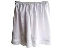 New 4 color Nylon Shorts Slips Underwear Pettipants Lace Lingerie Women white