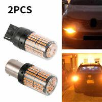 2X T20 7440 Indicateur clignotant à LED ambre ampoules voiture Canbus