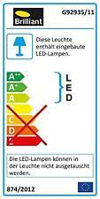 Brilliant Anthony - Lampada da tavolo a LED, colore titanio (z9k)