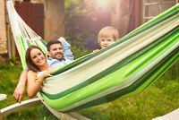 Amazonas Riesen-Hängematte Paradiso oliva Tuchhängematte für Großgewachsene