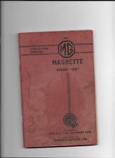 MG Magnette  ZA operation manual  ( manuel d'entretien )