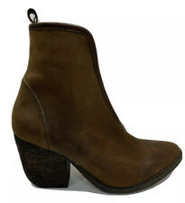 Jeffrey Campbell Brown Suede Boots (Size EU 37) stretch panel Block Heel Angled
