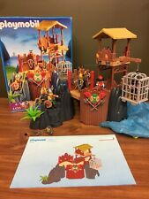 Box Playmobil 4433 Viking Fortress Complete Dunking Prisoner Fortress RARE