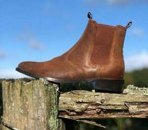New Pure Handmade Brown Suede Chelsea Boot For Men's