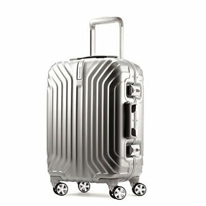 "NEW Samsonite Tru-Frame 20"" Carry on Luggage Silver 73722-4052 TSA Lock"