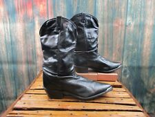 Ladies Dingo Distressed Black Leather Western Cowgirl Boots: Size 7M