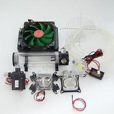 Water Cooling Kit 120 Radiator CPU GPU Block Pump Tank Reservoir Tubing LED