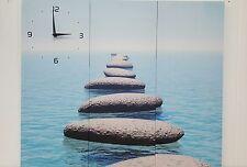 3 piece Pebble Beach Canvas Clock -7017