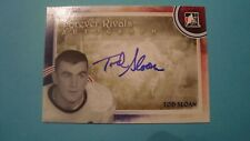2012 13 ITG FOREVER RIVALS TOD SLOAN AUTOGRAPH TORONTO MAPLE LEAFS