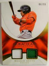 MOOKIE BETTS RED SOCKS 88/99 2 COLOR IMMACULATE COLLECTION PANINI 2017