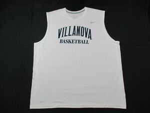 Villanova Wildcats Nike Sleeveless Shirt Men's White Dri-Fit Used 3XL