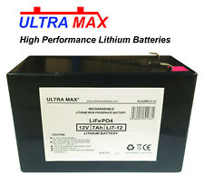 2 X Ultramax 12v 7ah Lithium Ion Battery Toy Car Electric Bike Feber Injusa