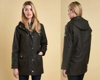 BARBOUR COASTAL COLLECTION TEMPLATES SEATON WAX JACKET Olive Brown US 6 / UK10