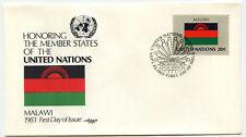 United Nations #403 Flag Series, Malawi, Artmaster, FDC