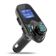 Deluxe Bluetooth FM Transmitter Car Radio Adapter Kit, iPhone, Android, TF Slot