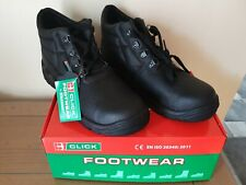 CLICK Mens Safety Toecap Work Boots Size 9  Black.
