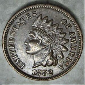 1882 Indian Head Cent  Untouched  XF/AU
