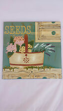 BNWT Hand Painted Glass Picture / Art / Sign Featuring Seeds Designer  Chic