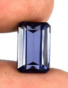 9.65 Ct Color Changing Sapphire Gems 100% Natural Emerald Cut Certified E6127
