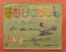 1915 HUNGARY OVERPRINT TOLMACS REGISTERED TO USA