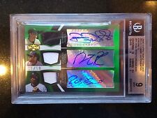 2009 Cano Pedroia Roberts Topps Triple Threads Auto#1/18  Red Sox- BGS MINT