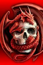 Diamond Painting  5D Red DRAGON & SKULL 20 X 30 CM - STOCK IN USA- ON SALE NOW