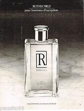 PUBLICITE ADVERTISING 065  1984  ROTSCHILD  parfum homme