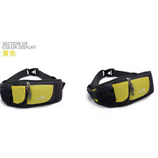 Yellow Running Jogging Water Bottle Mobile Phone MP3 Holder Waist Belt Bag