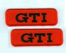 VW RACING TEAM GTI LOGO RACING VW GTI PERFORMANCE PARTS VW GTI 2-PATCH SET