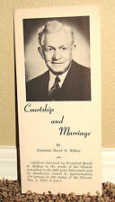 COURTSHIP AND MARRIAGE by David O. McKay 1960 LDS MORMON BOOKLET RARE