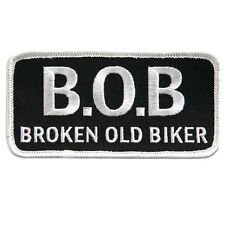 Broken Old Biker  Patch IRON ON 4 inch MC BIKER PATCH