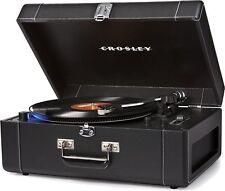Crosley Keepsake Deluxe Portable Record Player USB Turntable Black