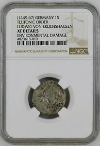 Germany Teutonic Order Schilling Ludwig Von Erlichshausen 1449-67 NGC XF