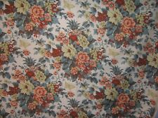 """Waverly """"Kent"""" floral with butterflies vintage by the yard , color ivory multi"""