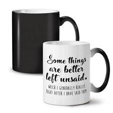 Las cosas mejor dicho nuevo cambio de color té café taza 11 Oz | wellcoda
