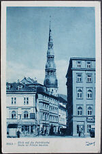 Riga - Blick auf die Petrikirche, einfarbige Ansichtskarte um 1940 -7962-