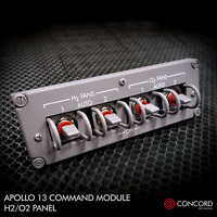 APOLLO 13 COMMAND MODULE QUAD SWITCH PANEL - H2-O2 FAN SWITCHES