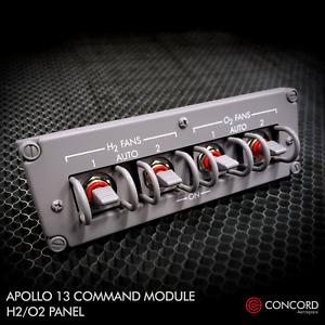 APOLLO 13 COMMAND MODULE QUAD SWITCH PANEL - H2-O2 FAN SWITCHES